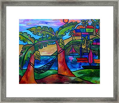 View From My Villa Framed Print