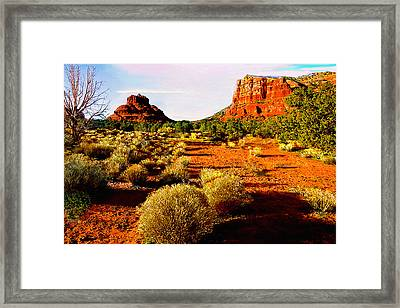 View From National Park Center Framed Print by Bob and Nadine Johnston