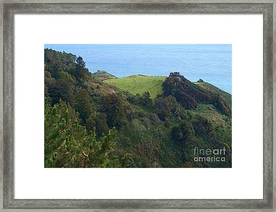 View From Nepenthe In Big Sur Framed Print