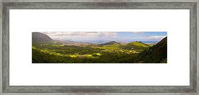 View From Nuuanu Pali Framed Print by Matt Radcliffe