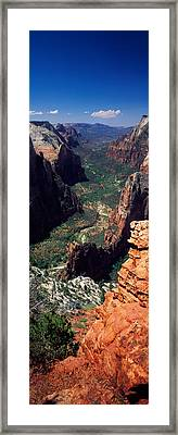 View From Observation Point, Zion Framed Print