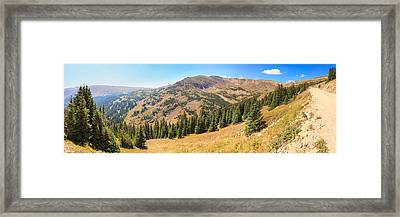 View From Old Fall River Road Framed Print by Panoramic Images