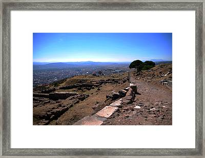 View From Pergamum Acropolis Framed Print by Jacqueline M Lewis