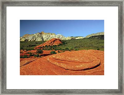 View From Petrified Dunes, Snow Canyon Framed Print