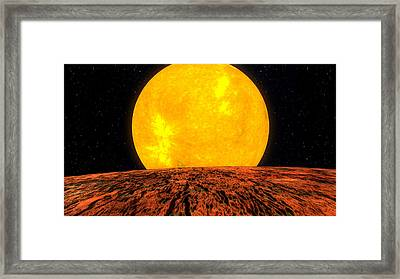 View From Planet Kepler 10b Framed Print by Movie Poster Prints