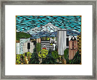 View From Portland Rose Garden Framed Print by Mary Ellen Bowers