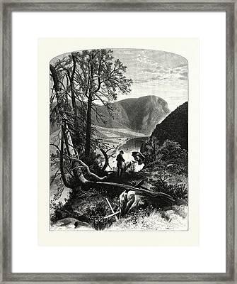 View From Prospect Rock Framed Print by J.d. Woodward, John Douglas (1846?1924), American