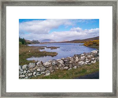 View From Quiet Man Bridge Oughterard Ireland Framed Print by Charles Kraus