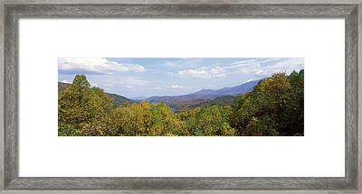 View From River Road, Great Smoky Framed Print by Panoramic Images