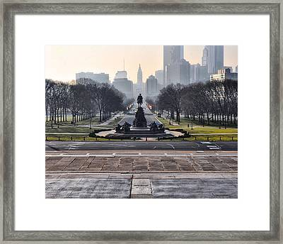 View From Rocky's Footsteps Framed Print by Bill Cannon