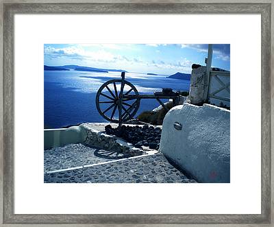Framed Print featuring the photograph View From Santorini Island Greece by Colette V Hera  Guggenheim