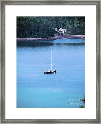 View From Sargent Framed Print by Elizabeth Dow