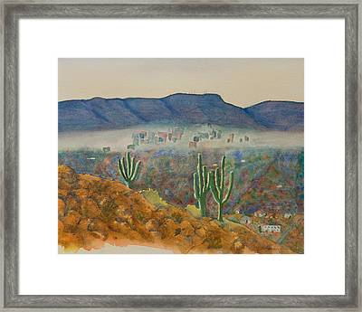 View From Shaw Butte Framed Print