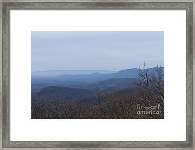 View From Springer Mountain Framed Print