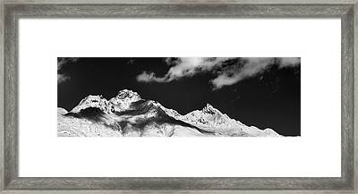 Framed Print featuring the photograph View From St. Moritz by Marc Huebner
