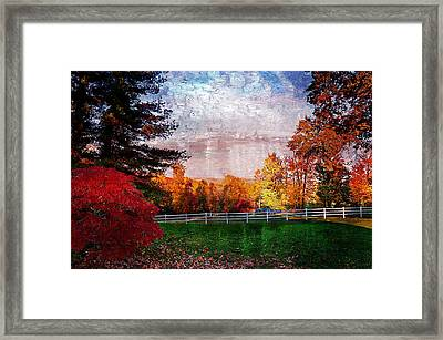 View From Sugarland Heights Framed Print by Julie Dant
