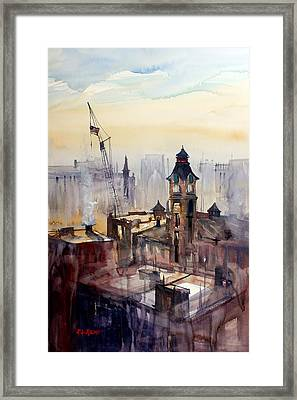 View From The 14th Floor - Milwaukee Framed Print