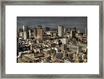 View From The 31st. Floor Framed Print by Sylvia Blaauw