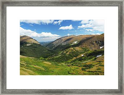 View From The Alpine Visitor Center Framed Print by Michel Hersen
