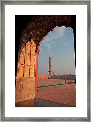 View From The Arch Of Badshahi Masjid Framed Print