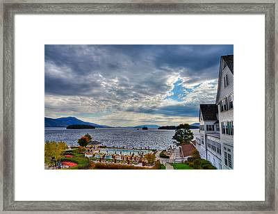 View From The Balcony Suite - Sagamore Resort Framed Print by David Patterson