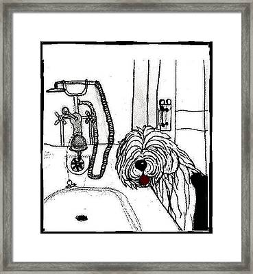 View From The Bath Tub Framed Print