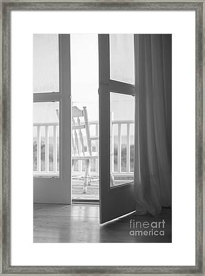 View From The Beach House Framed Print by Diane Diederich