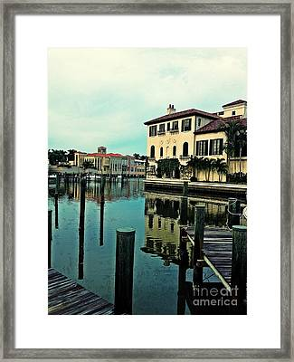 View From The Boardwalk 3 Framed Print by K Simmons Luna