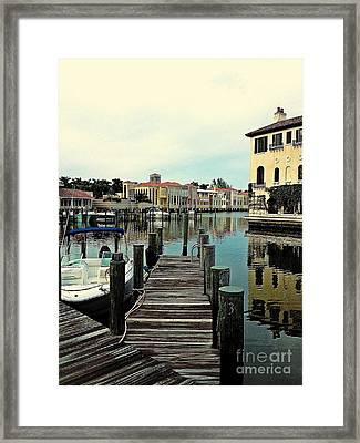 View From The Boardwalk 2 Framed Print by K Simmons Luna