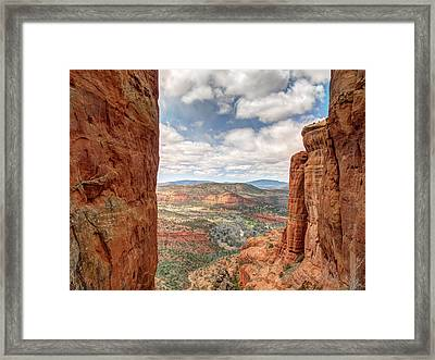 View From The Cathedral Framed Print