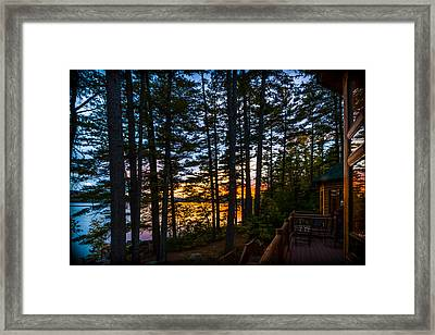 View From The Deck Framed Print by Karen Stephenson