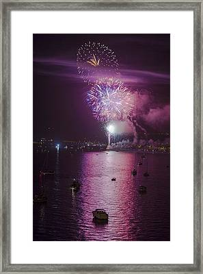 View From The Deck Framed Print by Scott Campbell