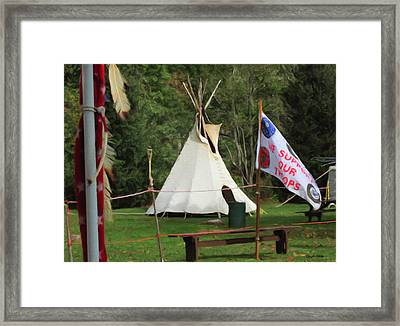 View From The Drum Arbor Framed Print by Spyder Webb