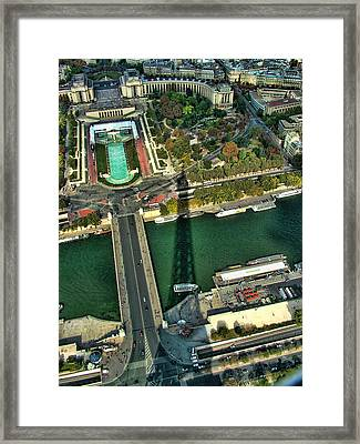 View From The Eiffel Tower Framed Print by Kathy Churchman