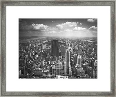 View From The Empire State Framed Print by Underwood Archives