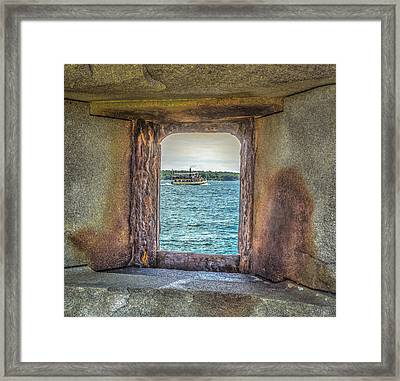 View From The Fort Framed Print