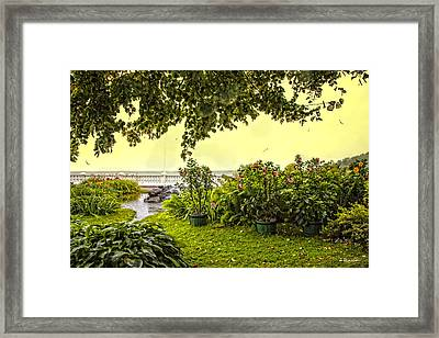 View From The Garden - Bay Of Finland - Russia Framed Print by Madeline Ellis
