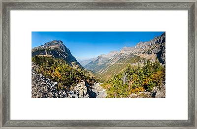 View From The Going-to-the-sun Road Framed Print by Panoramic Images