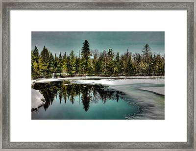 View From The Green Bridge - Old Forge New York Framed Print