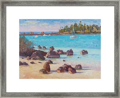 View From The Grotto Framed Print by Dianne Panarelli Miller