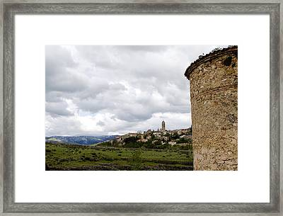 View From The Iglesia Vera Cruz Framed Print by Lorraine Devon Wilke