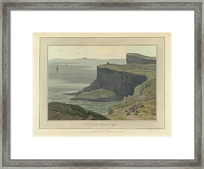 View From The Island Of Staffa Framed Print by British Library