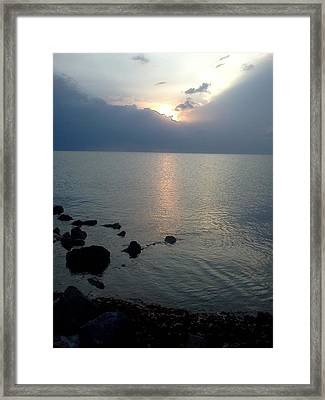 View From The Jetty 2 Framed Print by K Simmons Luna
