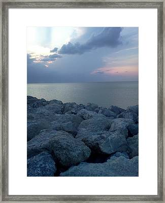 View From The Jetty Framed Print