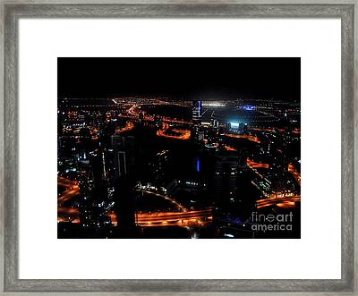 View From The Jw Marriott Marquis Dubai Hotel Framed Print by Graham Taylor