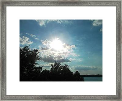 View From The Lake Framed Print by Tina Murray