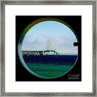 View From The Mackinac Light Framed Print