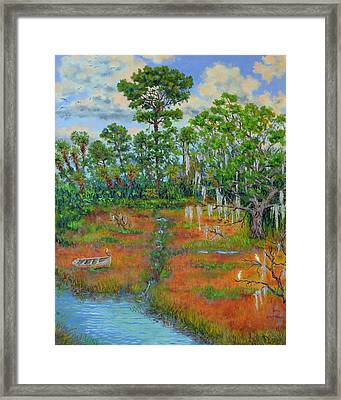 View From The Marsh Framed Print