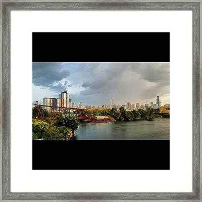 View From The North Avenue Bridge Framed Print