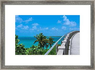 View From The Old Bahia Honda Bridge Framed Print by John M Bailey